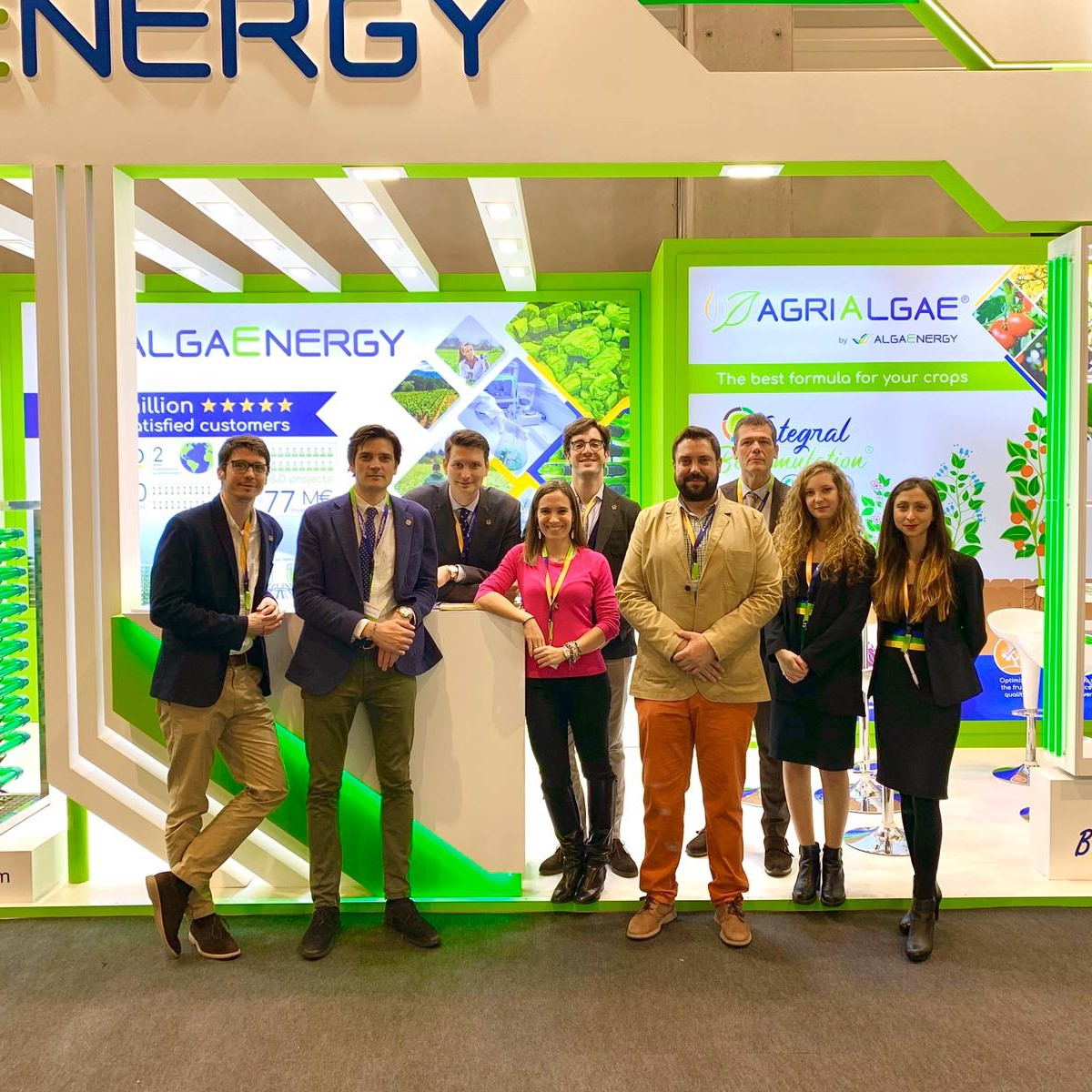 AlgaEnergy successfully concludes its first participation in Fruit Logistica