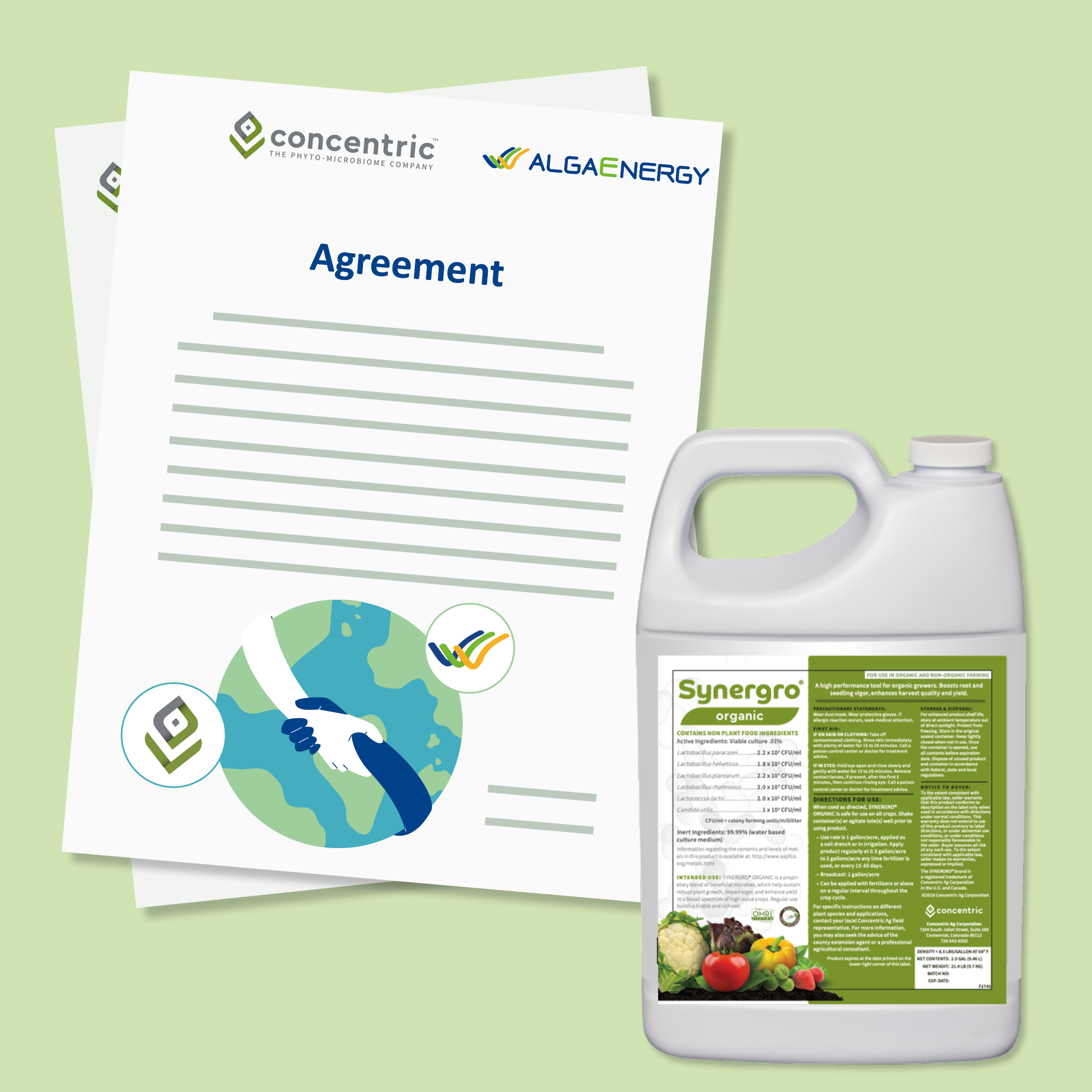AlgaEnergy and Concentric Ag enter into distribution and product development agreements